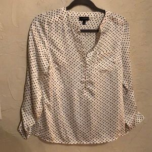 Ladies White w/Hearts The Limited Size S Blouse